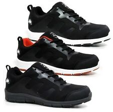 NEW MENS SAFETY TRAINER WORK STEEL TOE CAP RUNNING OFFICE DRIVING SHOES TRAINERS