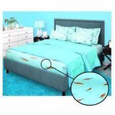 Bedsheet Fitted Sheet Cover Linen Collection with Pillowcase - BLUE (KING)