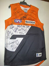 GWS GIANTS INAUGURAL TEAM HAND SIGNED HOME JERSEY UNFRAMED + PHOTO PROOF & C.O.A