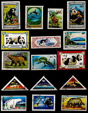 MONGOLIE Animaux familiers,: poissons,panda,ours,chiens, cerf, divers  82M-D120