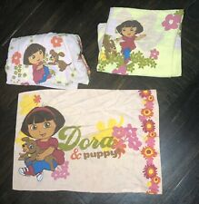 DORA THE EXPLORER AND PUPPY PINK TWIN SHEETS 3 Pc BED SET Fabric Material