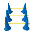Midlee Dog Cone & Pole Agility Set- Adjustable Big to Small Dogs- Set of 3