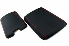 Mazda RX8 Console Armrest Front & Back Vinyl Cover Red Stitch For 04-08