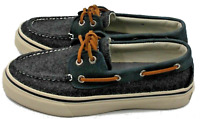 SPERRY Top-Sider Bahama II 2-Eye Grey/Navy Mens Boat Shoes Size 7 NEW