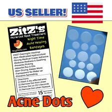 ZitZ's Acne Dot Spot Treatment Night Time Acne Healing Bandages • Pimple Patch