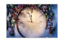 Christmas Clock Poster Prints Wall Decoration Art Pictures