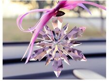 1PCS  New Amethyst Violet Crystal Snowflake ornament Charm Pendant Party Decor
