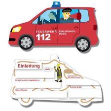 DH 302439 - Geburtstag & Party - Feuerwehr Einladungskarten, 6 Stk.