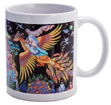 Firebird Russian FairyTale Mug Pakekh Fedoskino Russian Lacquer Miniature Style