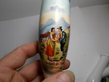 ANTIQUE PORCELAIN PIPE HAND PAINTED AUSTRIAN GERMAN MOUNTAINS Behüt di Gott