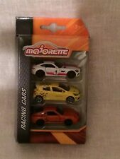MAJORETTE NEW OUT 3 CAR RACING GIFT SET,MERCEDES AMG GT,RENAULT CLIO,PORSCHE GT3