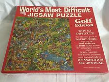 Worlds Most Difficult Jigsaw Puzzle Golf Edition Buffalo Games 1991 NEW
