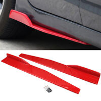 2*Car Lip Side Skirt Protector Bumper Spoiler Rocker Splitter Body Winglet