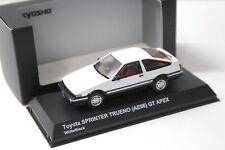 1:43 Kyosho Toyota Sprinter Trueno GT APEX white NEW bei PREMIUM-MODELCARS