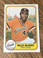 Vintage 1981 Fleer #434 WILLIE McCOVEY San Francisco Giants 1B HOF RARE NrMt/Mt