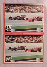 1975 Topps ABC's Wide World Of Sports Race Car Driving Card Sticker lot of 2