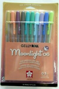 Sakura Gelly Roll Moonlight 06 Fine Point Pens Set 0.3 mm 2020 NEW COLORS 10 PC