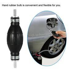 Black 6mm Manual Fuel Bulb Hand Pump Inline Fuel Pipe For Car Marine Boat M4M3