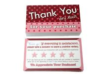 50 Thank You Cards for Poshmark Pink, for Mercari, eBay, etsy, boutique Sellers