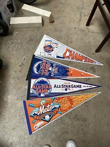 Lot Of 4 New York Mets 1986 National Champs,All Star Game 2013, 25th Anniversary