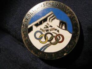 orig. old German  pin  Olympic Winter Games 1936