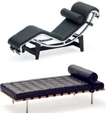 Reac Miniature Designers Chair 1/12 figure Doll Furniture Long black set