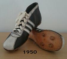 FOOTBALL/ SOCCER RETRO BOOTS. USED 1950. (adidas). BOTAS RETRO FUTBOL