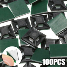 a01c4d4d202b 100Pcs 4mm Square Self Adhesive Wire Cable Tie Sticky Base Mounts For Zip  Ties