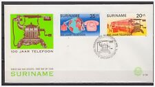 Surinam / Suriname 1976 FDC 6 100 Year telefoon telephone telefon