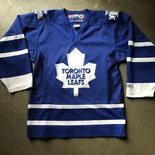 Men's Vintage CCM Toronto Maple Leafs NHL Home Blue White Jersey Sweater Sz S
