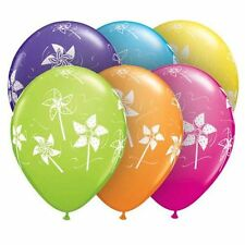 "10 pc 11"" Colorful Pinwheels Tropical Latex Balloon Party Decoration BBQ Picnic"