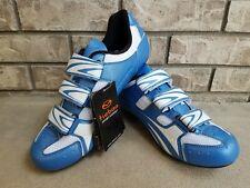 Tiebao Cycling Shoes Bike Sz EU 42 (US 9) Light Blue White Sport Expert