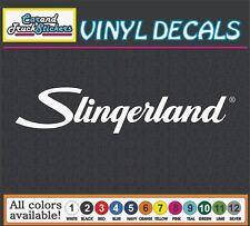 """12"""" Slingerland Drum Music Musical Guitar Vinyl Decal wall window sticker"""