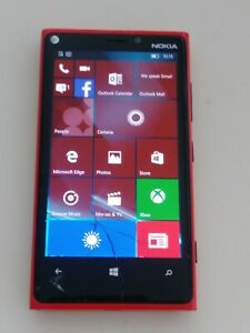 NOKIA LUMA 920 32GB RED AT&T CRACKED CLEAN IMEI **FREE SHIP**