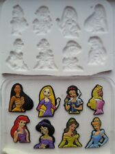 DISNEY PRINCESS SET SILICONE MOULD FOR CAKE TOPPERS, CHOCOLATE, CLAY ETC