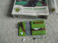 Vintage HO Scale Bachmann Plasticville Cattle Crossing Kit in Box 1434