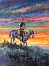 Native American Indian Mustang Coeur d'Alene Original Oil Painting Western ART