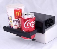 DIN In Car Mitsubishi Double Drink Cup Holder DVD CD IPod IPhone Coffee Folding