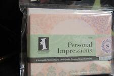 INKADINKADO STAMPABLE PERSONAL IMPRESSIONS SET OF 8 CARDS & ENVELOPES