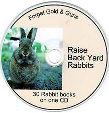 Urban Homestead-Raise back Yard Rabbits 30 rabbit books on one CD