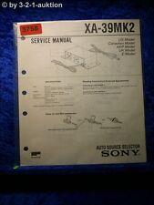 Sony Service Manual XA 39Mk2 Auto Source Selector (#3758)