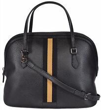 NEW Gucci 420023 MEDIUM Black Gold Leather Web Stripe Convertible Dome Purse