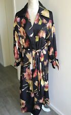 Zara Mantel Trenchcoat Kleid lang Übergangsmantel Blumen S 36 38 40 82e74416a4