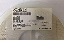 x1000 **NEW** KYOCERA CR32-2151F-T, Metal Film Resistor, 2.15K Ohm 200V 1%, SMD