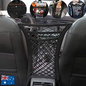 Universal Car Truck Seat Mesh Tidy Storage Net Bag Organizer Holder Multi-Pocket