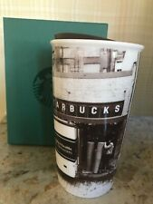 NEW Starbucks 2016 Brown Seattle Pike Place Ceramic Double Wall Tumbler 12 oz.