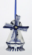KURT ADLER HAND PAINTED PORCELAIN DELFT BLUE WINDMILL CHRISTMAS ORNAMENT STYLE 2