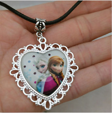 Hot FROZEN PENDANT Silver Plated CHAIN NECKLACE ROYAL PRINCESS #3