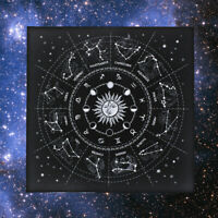 The Zodiac Tarot Cloth Decor Divination Cards Wicca Velveteen Square Tapestry ZE