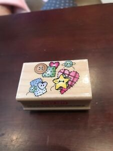 Rubber Stamp - Hero Arts - Buttons and Patches - C1159